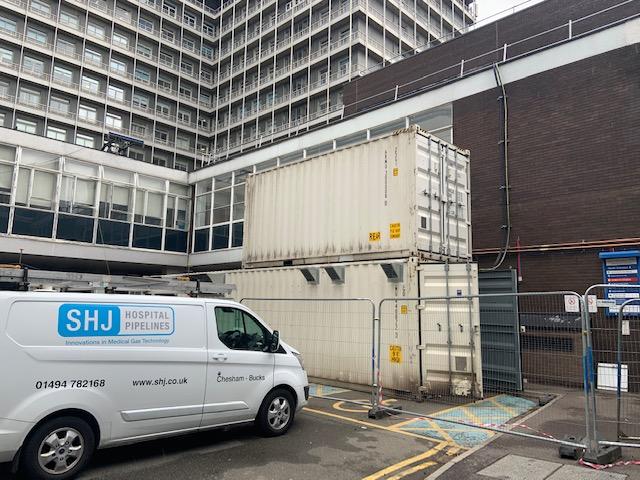 SHJ van at Charing Cross